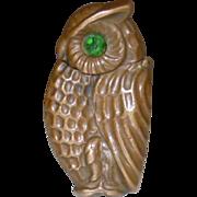 Deco Owl FIgural Match Safe Vesta