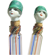 Flapper Doll Figural Perfume Bottles Miniatures