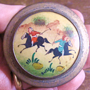 Persian Warriors on Horseback Snuff or Pill Box
