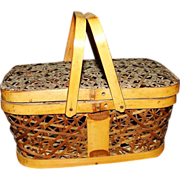 Wicker Miniature Picnic Basket