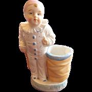 Pierrot Porcelain Figurine with Vase