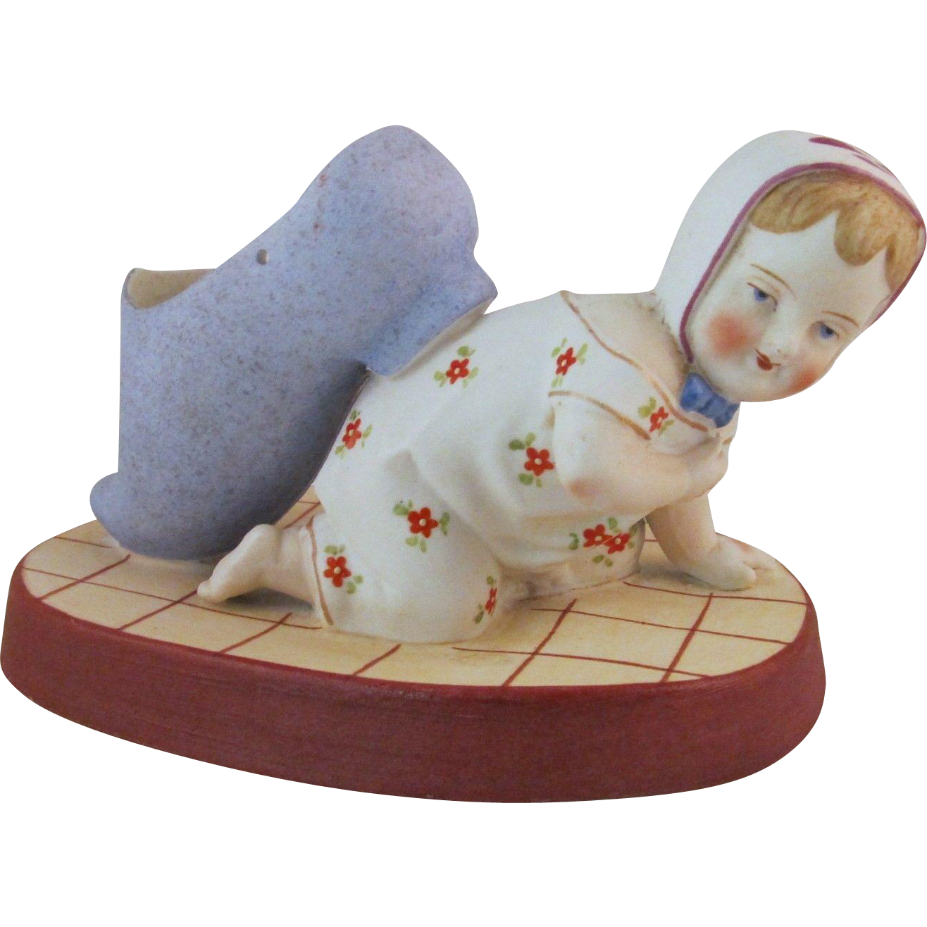 Sweet Pincushion Bisque Doll Crawling Baby