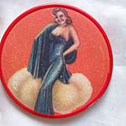 Pin Up Girl Makeup Vanity Pocket Mirror