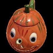 German Child's Teapot Halloween Pumpkin