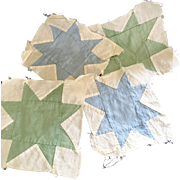 36 Hand Sewn Patchwork Quilting Squares Circa 1920s