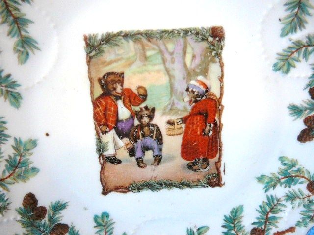 Teddy Roosevelt Bears Child's Plate