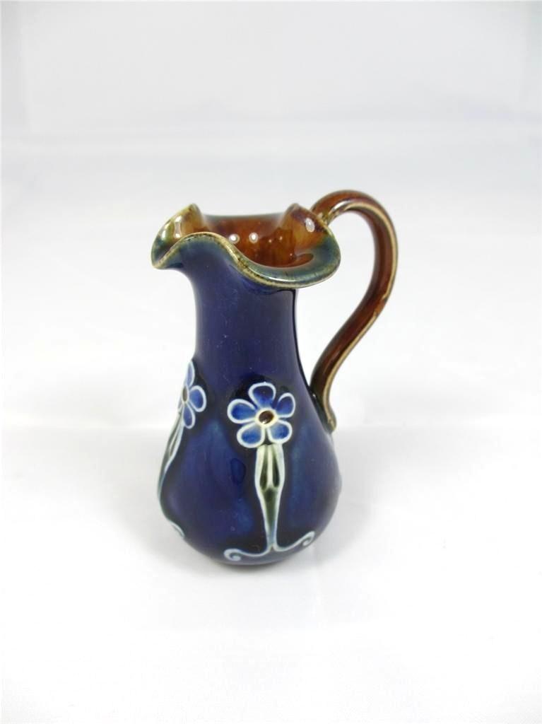 Miniature Royal Doulton Cobalt Blue Ewer Jug