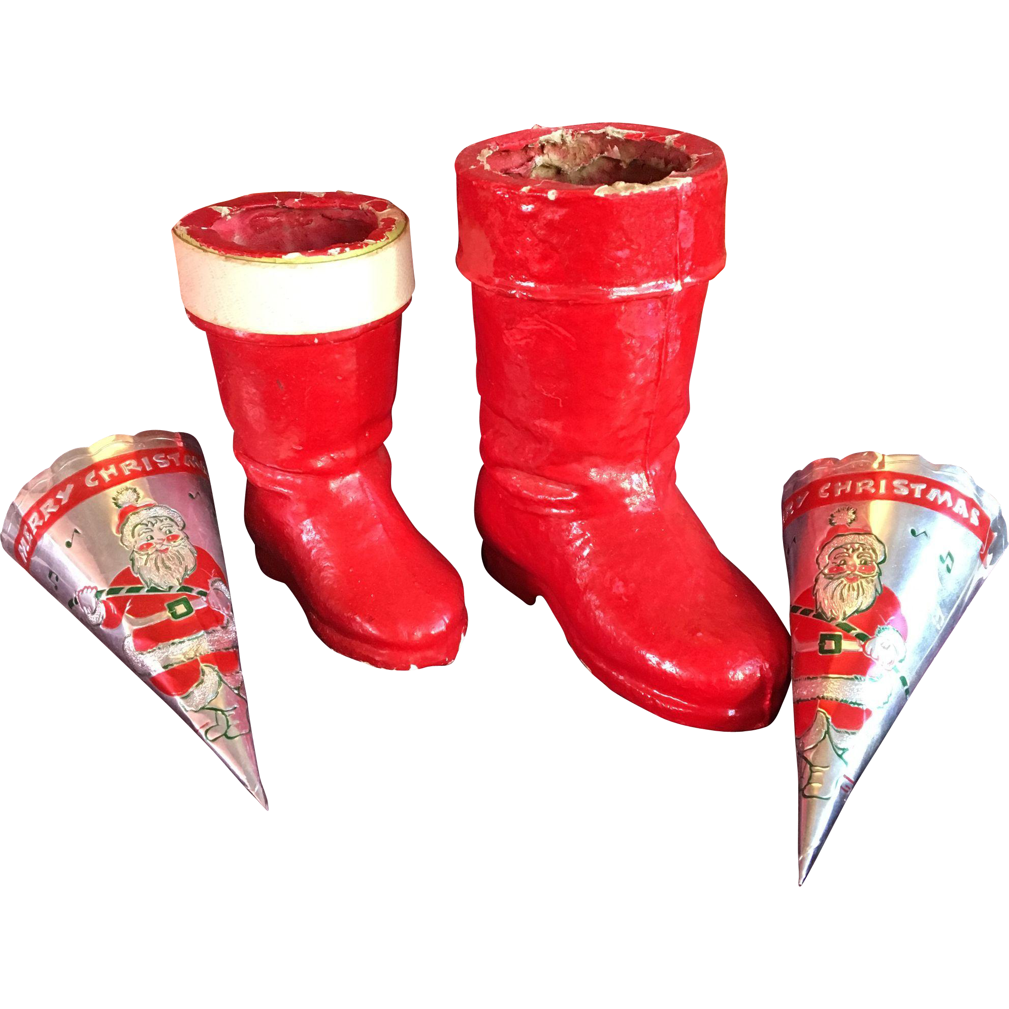Group of Candy Containers Boots and Cones