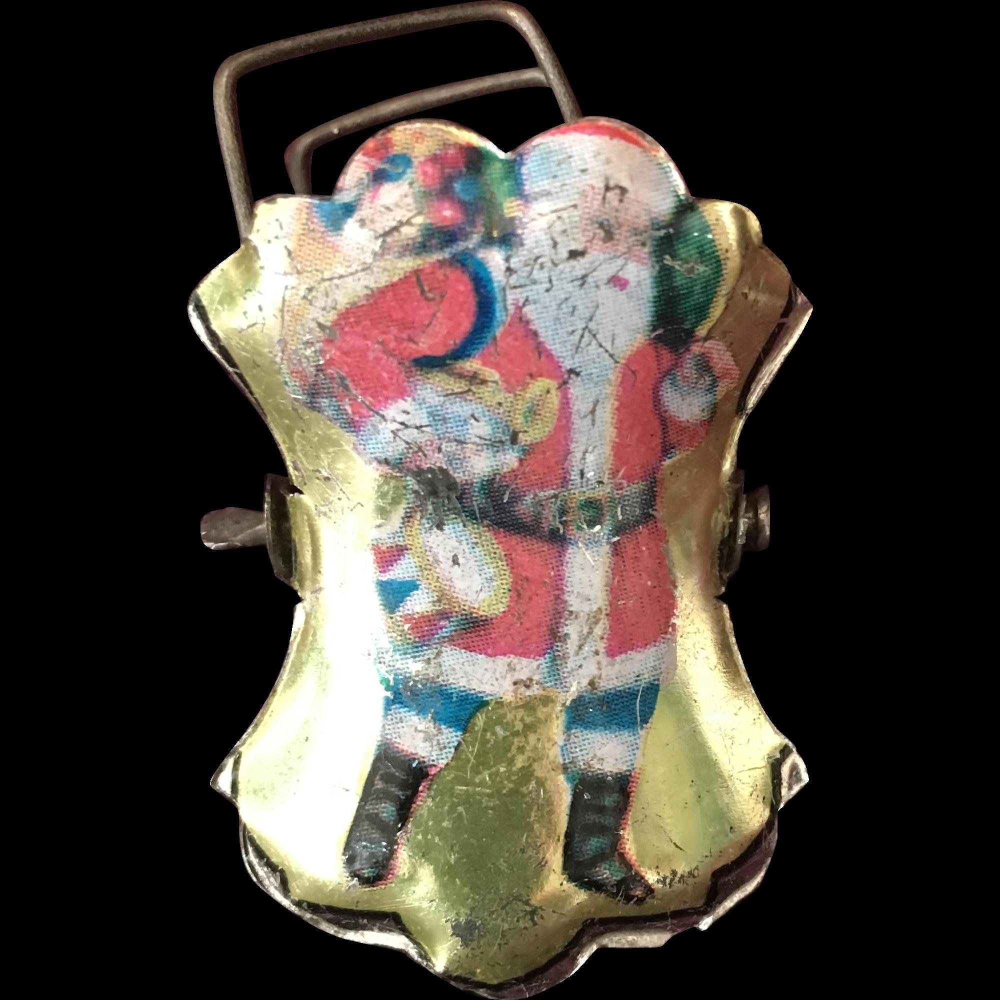 Santa Claus Metal Christmas Tree Candle Clip - Very Rare!