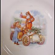 Child's Christmas Transportation Santa Plate