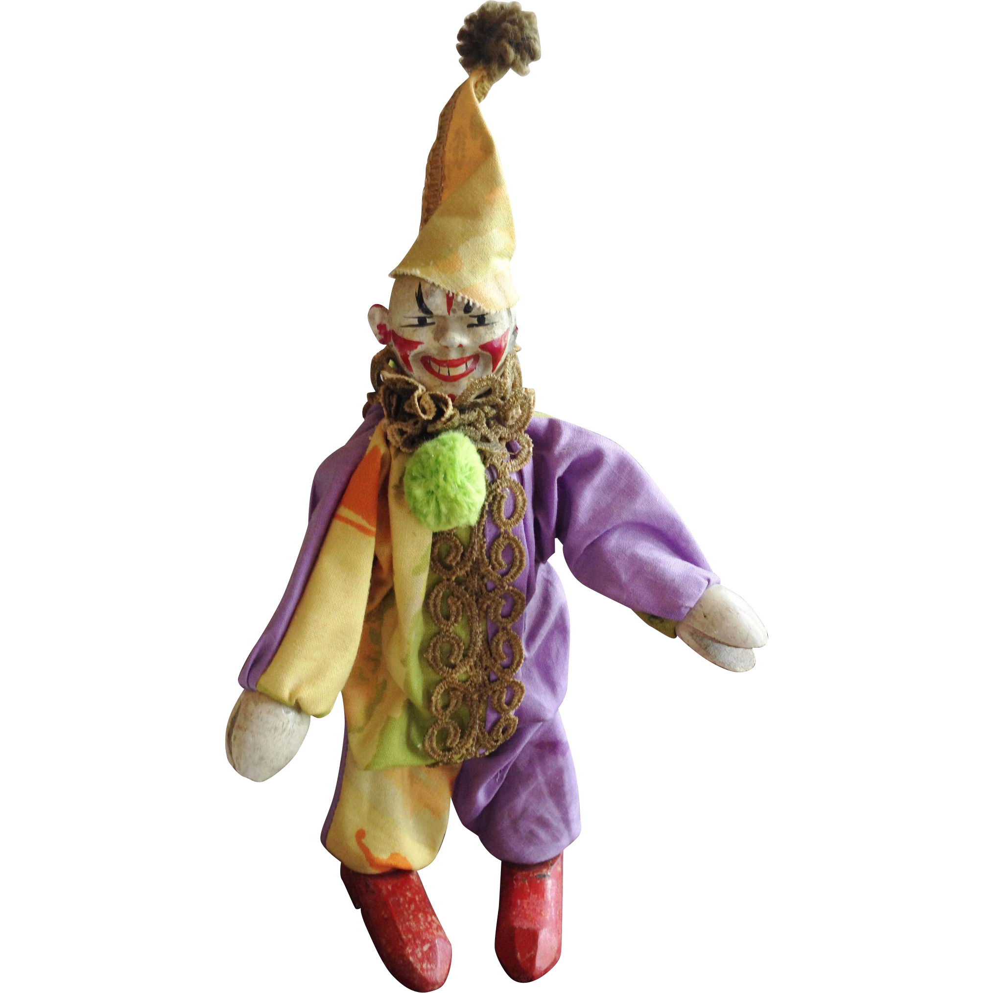 schoenhut wooden circus clown doll from antiquefreak on. Black Bedroom Furniture Sets. Home Design Ideas