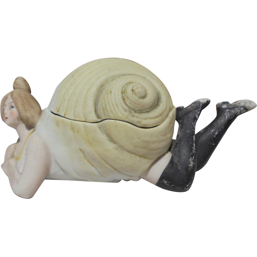 Bathing Beauty Naughty Lady in a Shell Figurine