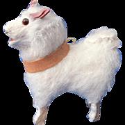 Miniature Vintage Spitz Samoyed Pomeranian Dog for your Doll or Dollhouse