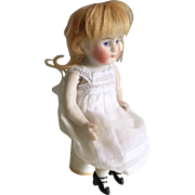 "Sweet German Bent Knee ""Sitter"" All Bisque Doll"