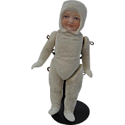 Large Jointed German Snowbaby Doll