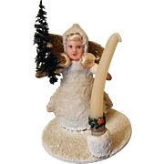 Snow Baby Angel Candle Christmas Ornament