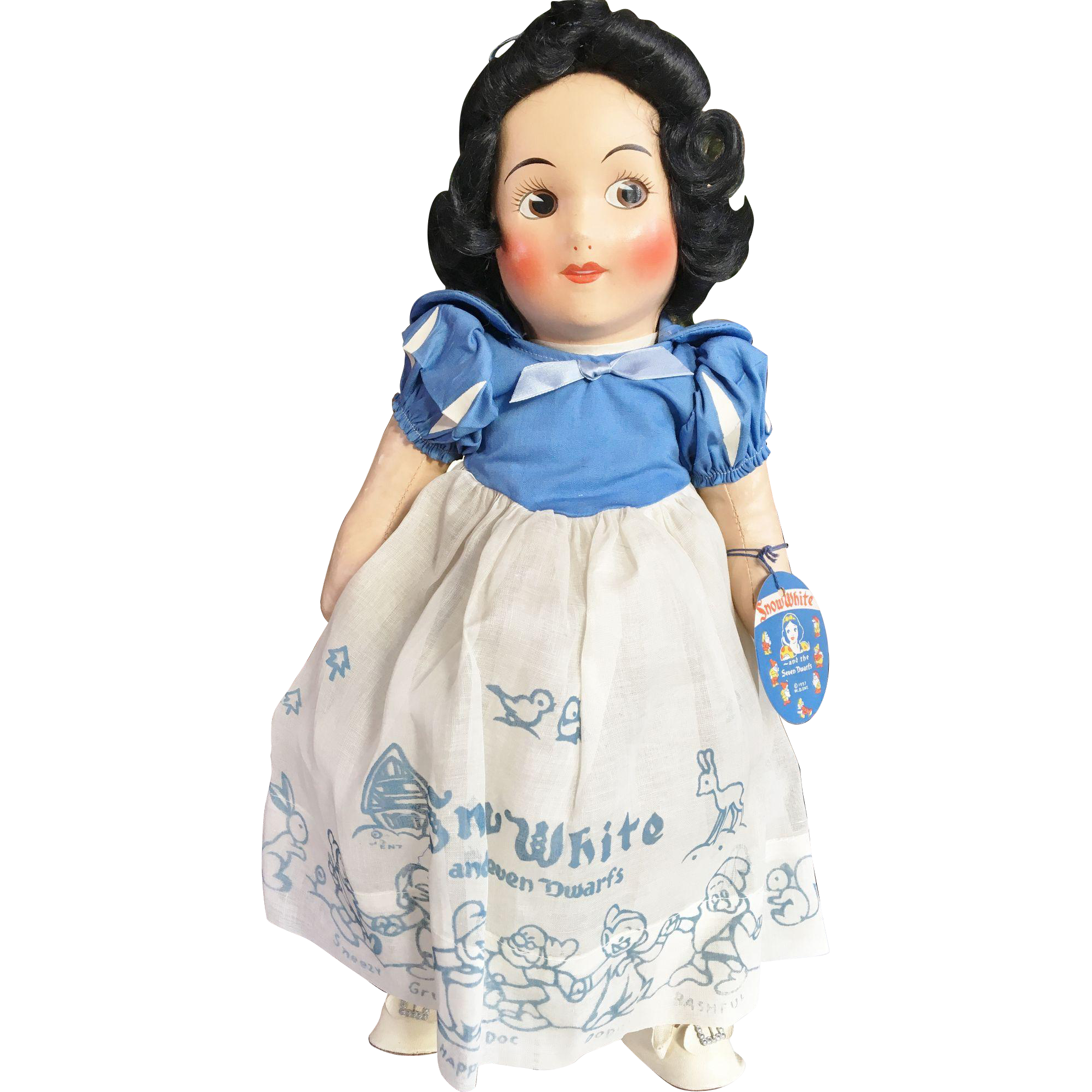 Near Mint Disney Snow White Oilcloth Doll