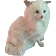 Old Squeak Pull String Fur Cat Toy