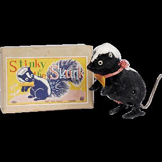 Vintage Stinky the Skunk WIndup Toy