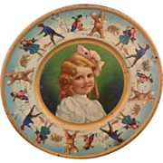 Tin Girl Portrait Child's Plate