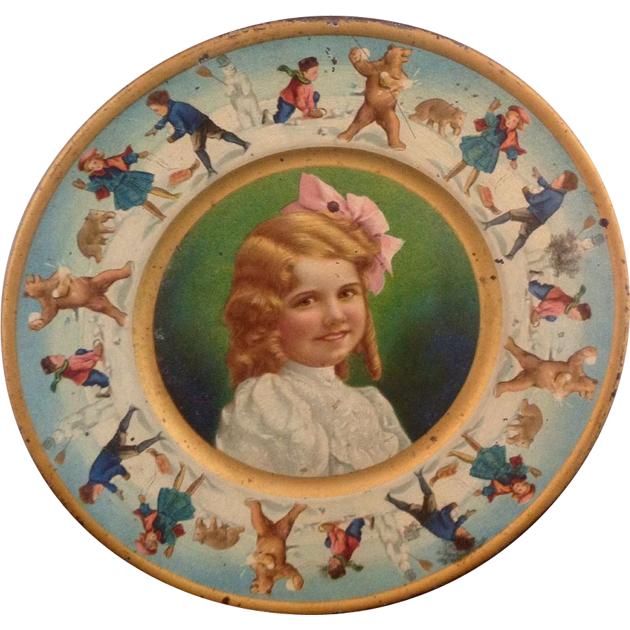 Tin Girl Portrait Child's Plate