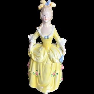 Porcelain Half Doll Vanity Powder Dish