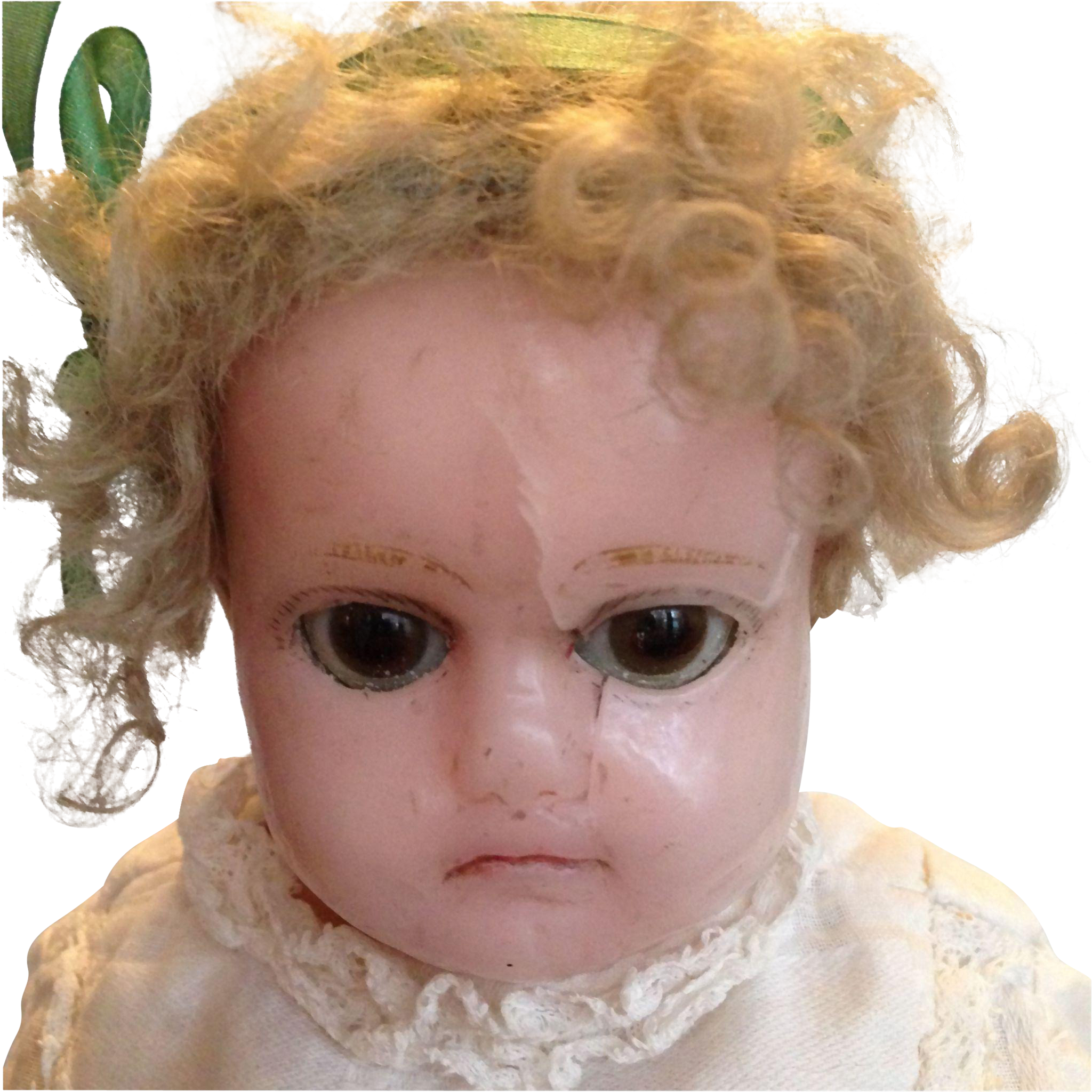Wax over Composition Girl Doll