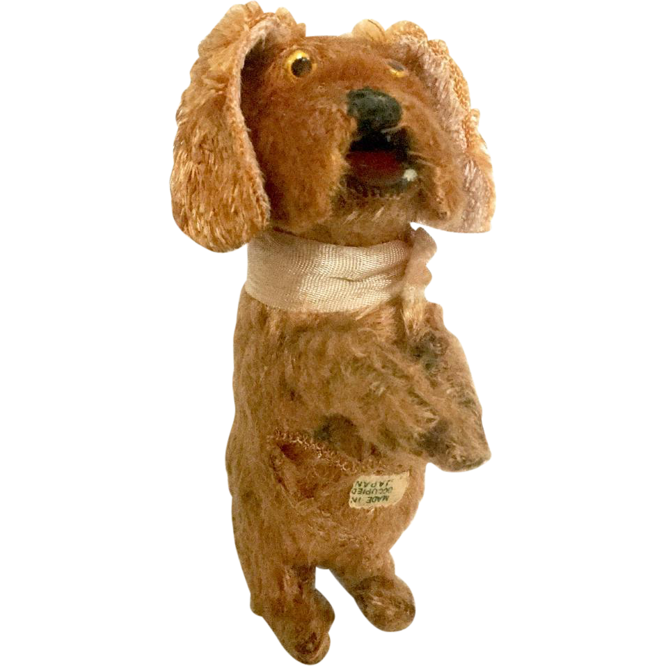 Vintage Japan Toy Wind Up Dog