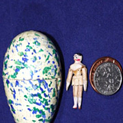 Miniature Peg Wooden Doll in Egg - Red Tag Sale Item