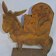 Wooden Man on Donkey Cigarette Dispenser