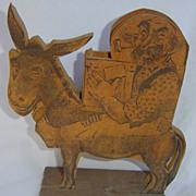Wooden Man on Donkey Cigarette Dispenser