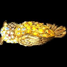 Gold Owl Pin