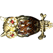 Trifari Owl Pin