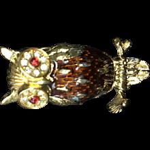 Trifari Owl Pin