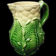 Whieldon Cabbage Leaf Pattern Creamer