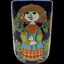 Signed Bjorn Wiinblad Studio Line Rosenthal Decorative Vase – 1001 Nights