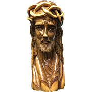 Olive Wood Bust of Jesus Christ