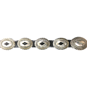 Jerry Cowboy Navajo Sterling Silver Conch Belt