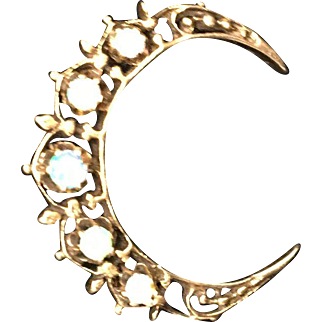 14K Gold and Opal Brooch