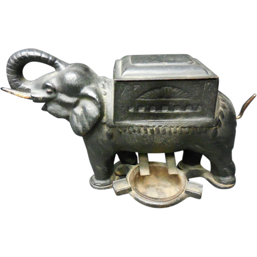 Cast Iron elephant cigarette dispenser