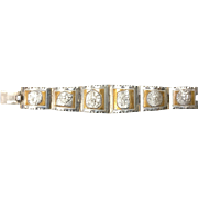 Sterling Silver Central American Medallion Bracelet