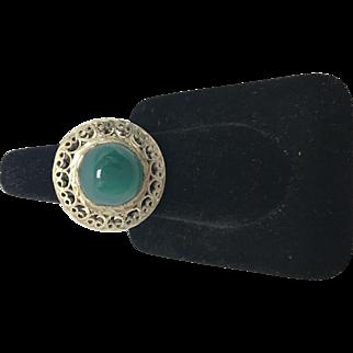 Jade Sterling Sliver Ring