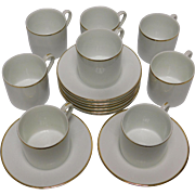 Tiffany & Co. Espresso Set of 8 Cups and Saucers