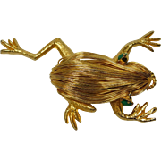 Golden Wire Frog Pin