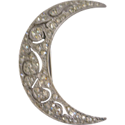 Designer Crescent Moon Pin