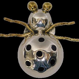 Designer Sterling Silver Beetle Pin