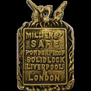 Milners' Safe London Lock Panel