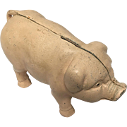 Vintage Cast Iron Piggy Bank/Door-Stop