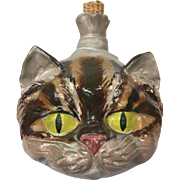Weaver's Whimsical Jugs Pottery Cat Face Jug
