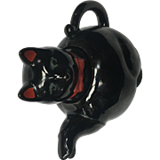 Vintage Black Cat Teapot